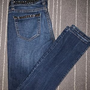 Flying Monkey Jeans - Flying Monkey studded skinny jeans SZ 27